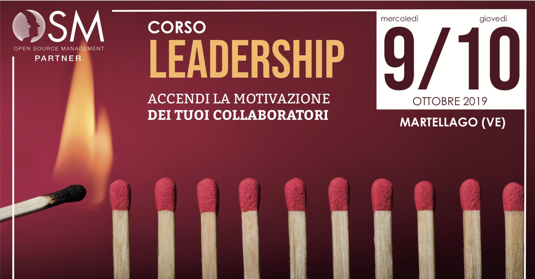 Corso Leadership Base - Martellago, 9 e 10 Ottobre 2019