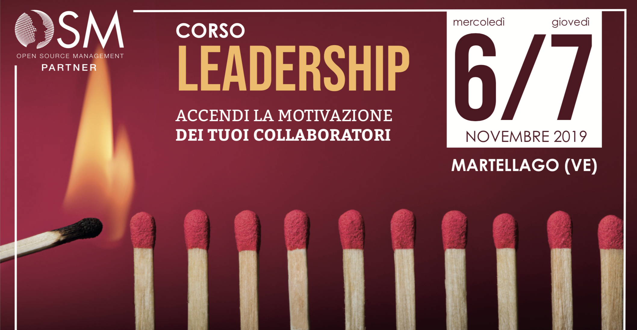 Corso Leadership Base - Martellago, 6 e 7 Novembre 2019