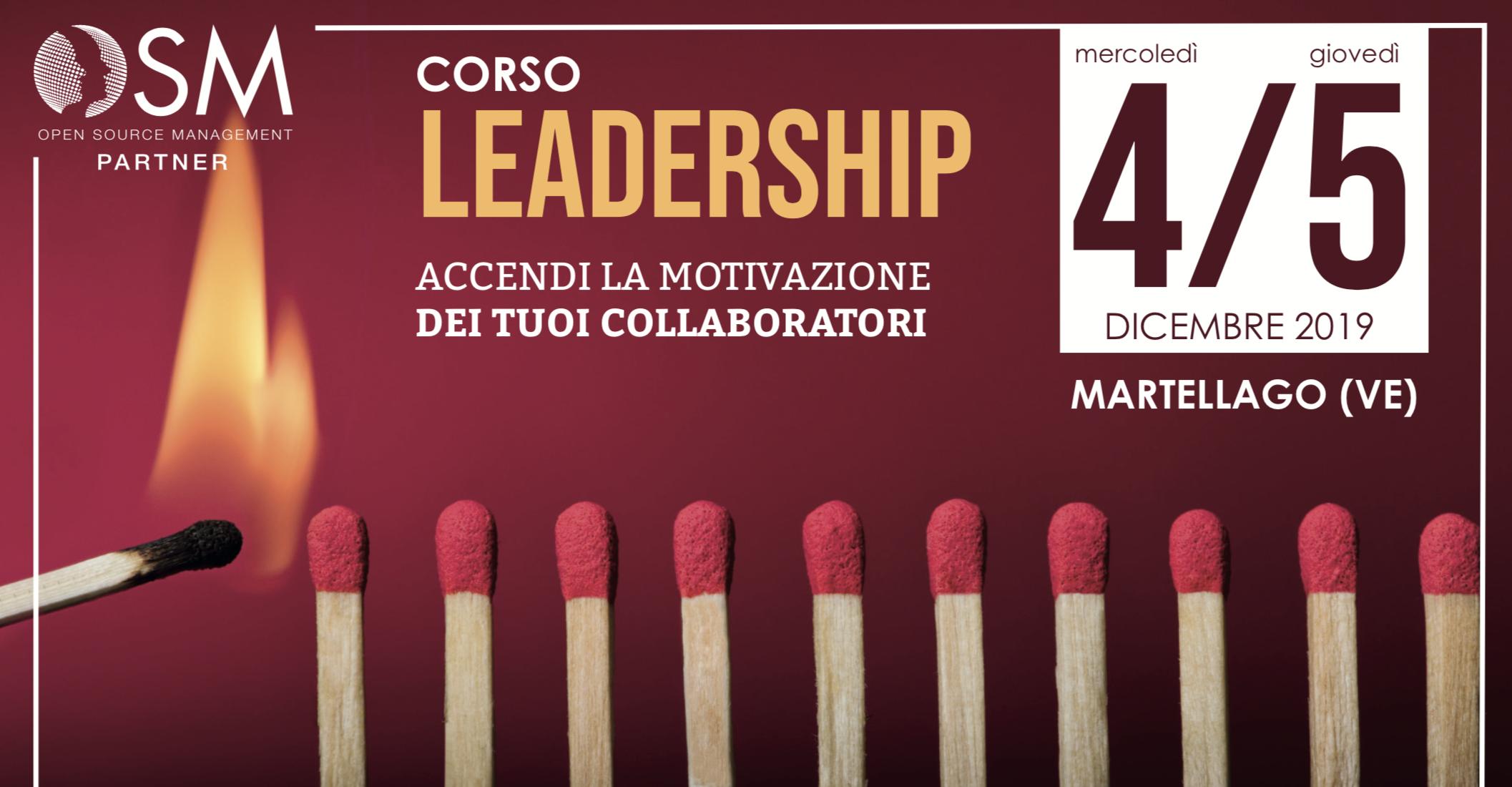 Corso Leadership Base - Martellago, 4 e 5 Dicembre 2019