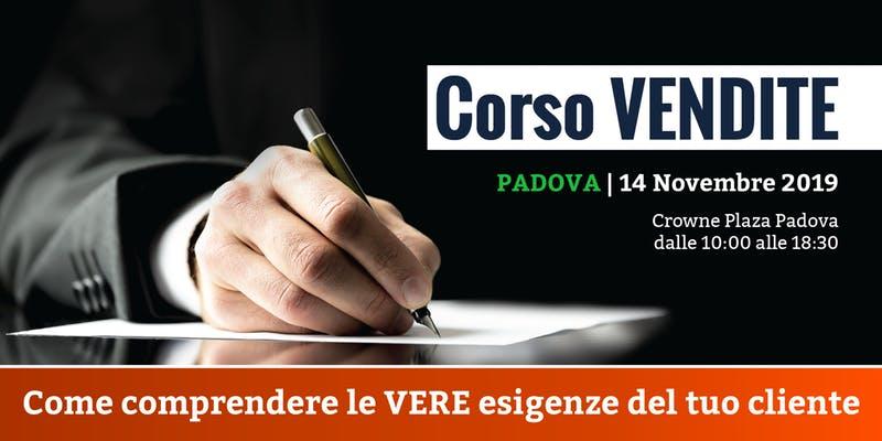 Corso Vendite con Paolo Valentini - Padova, 14 Novembre 2019
