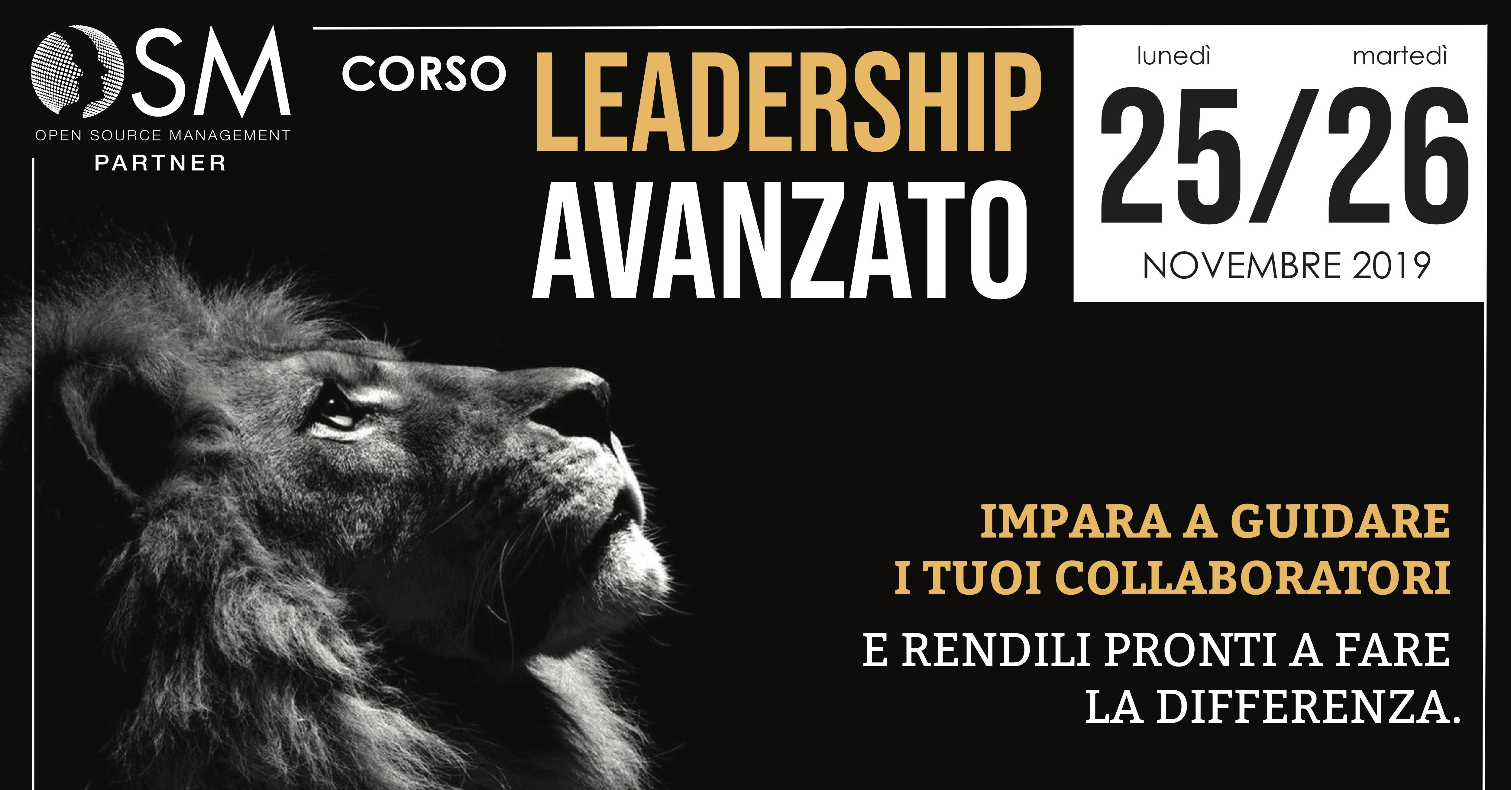 Corso Leadership Avanzato - 25 e 26 Novembre 2019